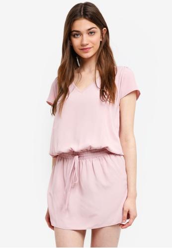 Something Borrowed pink Blouson Mini Dress 6532FAA100FD63GS_1