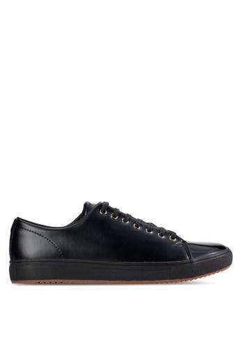 UniqTee black Patent Leather Low-Top Sneakers UN097SH83KGIMY_1