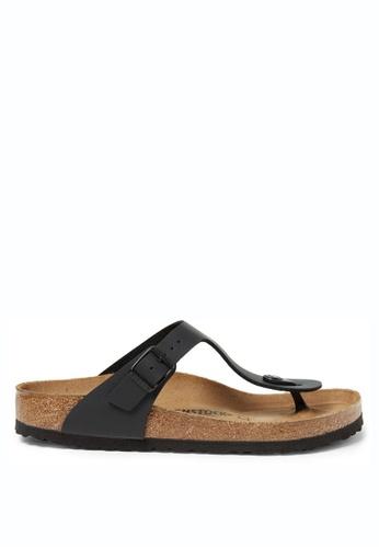 Birkenstock black Gizeh Birko-Flor Sandals BI090SH56HNNMY_1