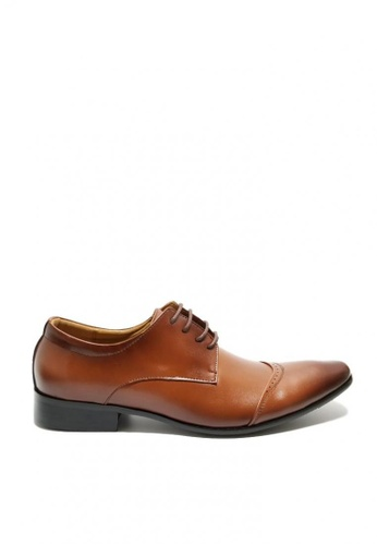 Kings Collection brown Ralston Leather Shoes 40577SH4472638GS_1