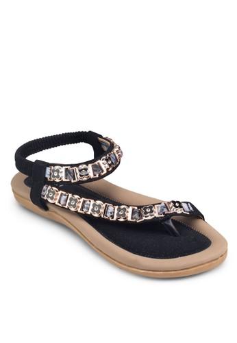 花朵裝飾彈性esprit台灣踝帶涼鞋, 女鞋, 鞋