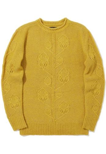 tout à coup yellow Lurex knit sweater 47CEFAA7FFC0D4GS_1
