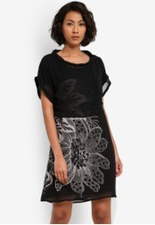 Desigual black Neusifu Dress DE160AA0S53ZMY_1