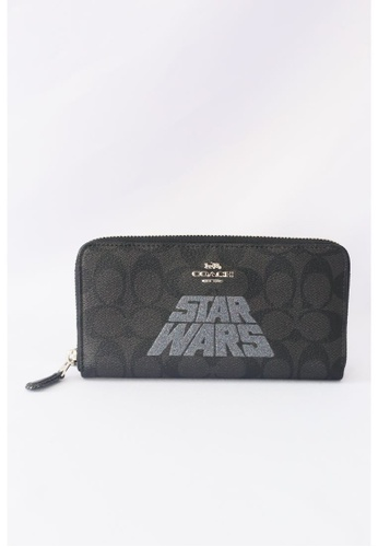 Coach brown Coach Accordion Zip Wallet With Signature And Star Wars Logo F88589 In Silver Black 3B039AC626780CGS_1