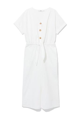 b+ab white Tie-waist jumpsuit D6D4FAA3C53EA9GS_1