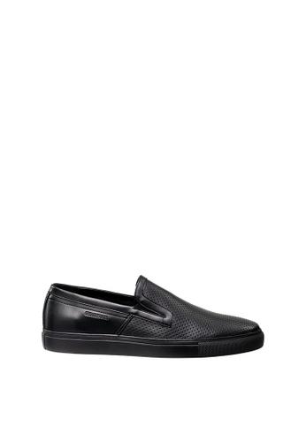 SEMBONIA black Men Leather Sneaker 2D081SH28CABC8GS_1