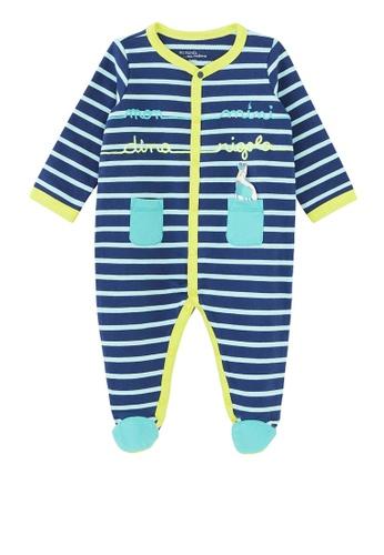 Du Pareil Au Même (DPAM) blue Striped Bodysuit ABD37KA5215AF6GS_1