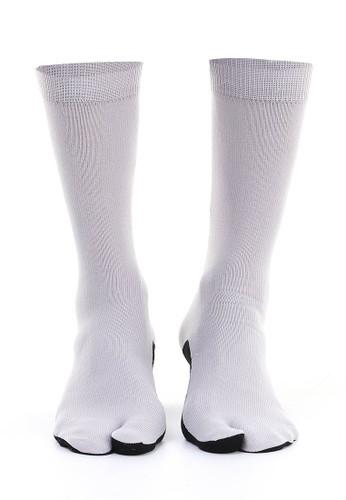 Hamlin grey Hamlin Nercyla Kaos Kaki Wanita Toe Socks Two Tone Casual Footwear Material Spandex ORIGINAL 122B4AA2A478EBGS_1