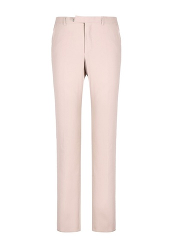 Gucci GUCCI STRETCH GABARDINE TAILORED PANTS-BEIGE 55ACCAA0830DEAGS_1