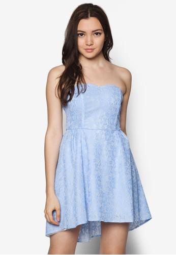 蕾絲鉤花抹胸傘狀洋裝, 服飾,zalora退貨 派對洋裝