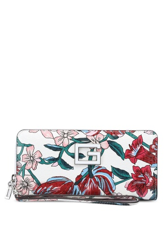 Guess red Blane Large Zip Around Wallet CD601AC50C4691GS_1