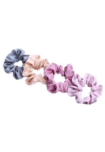 Glamorbit multi Satin Silky Hair Scrunchies Set B26F4AC383D57DGS_1