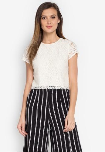 ANYA white Jewel Short Sleeves Blouse AN899AA0JPAHPH_1