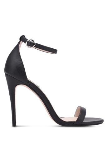 ZALORA 黑色 Classic Ankle Strap Heels 9D824SH7264108GS_1