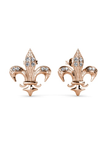 Her Jewellery silver Medieval Earrings (Rose Gold) - Made with premium grade crystals from Austria 1C56DAC5D8FEBEGS_1