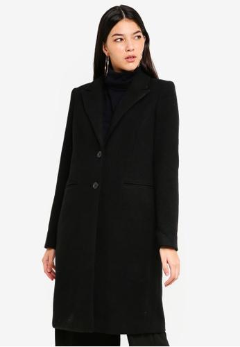 Vero Moda black Blaza Long Wool Jacket E8685AAD0C1490GS_1