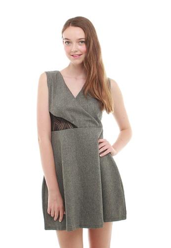 Leline Style grey Wendy LaceBack Chic Dress LE802AA67ECMSG_1