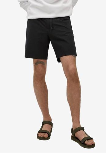 MANGO Man black Technical Jogger Shorts 9FE7CAAC0CA739GS_1