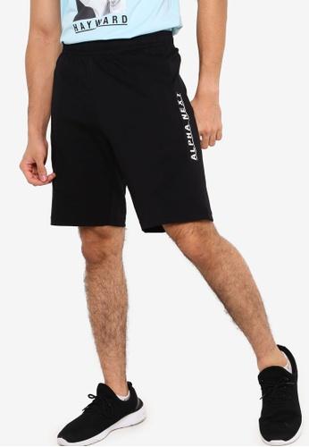 Anta black Alpha Next Knit Shorts A688FAA9904039GS_1