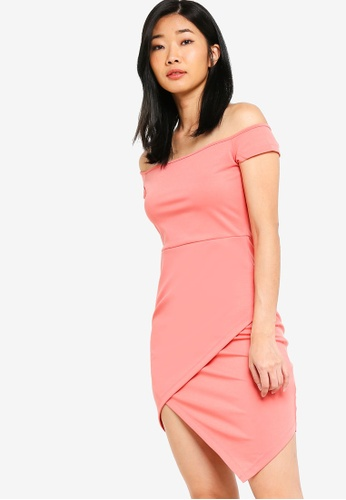 fc160bb6b150 Something Borrowed pink Off Shoulder Bodycon Dress E9078AA464C4A5GS 1