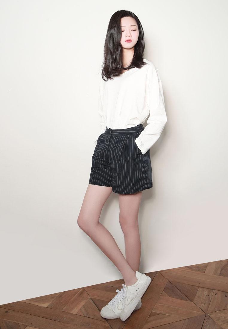 Shorts NAIN Stripe Linen NAIN Linen Navy Iwa4zqx