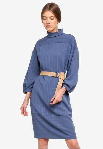 ESPRIT blue Woven Midi Dress 6D4C5AA3616DF0GS_1