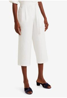 626028672a9d2 Mango white Bow Culottes Trousers E89FEAA1C7A806GS_1
