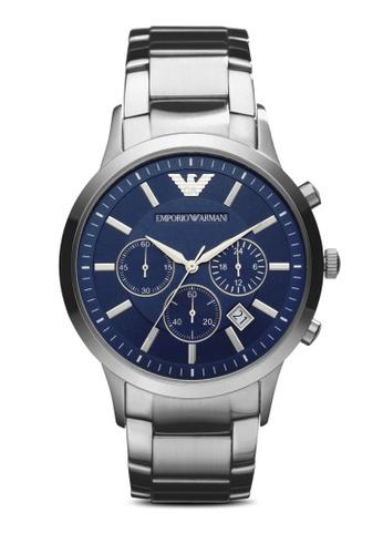 Emporio Armani blue and silver Silver Steel / Navy Blue Armani AR2448 AR899AC06EMBSG_1