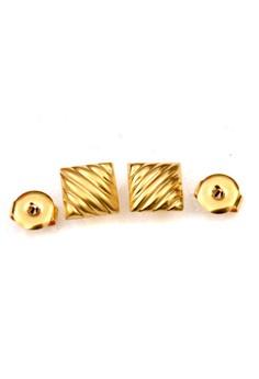 14K Gold Filled Textured Earrings