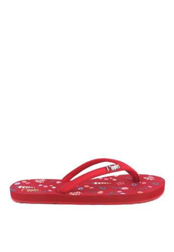 Ripples red Alyssa Floral Flip Flops 7A1EASH58D6FBBGS_1