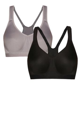 Impression black and grey Sports Bra Bundle Pack IM679US03REIMY_1