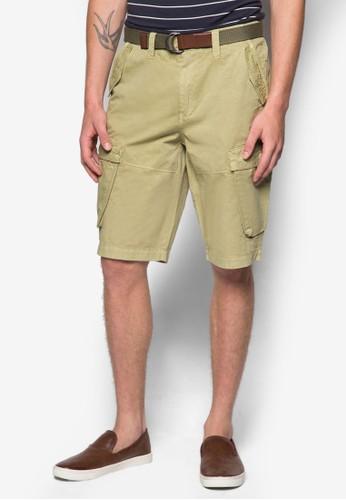 簡約口袋腰帶esprit台灣網頁短褲, 服飾, 短褲