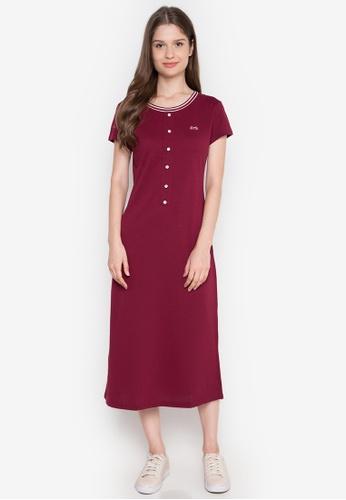 Le Tigre red Ladies Dress LE798AA0K40ZPH_1