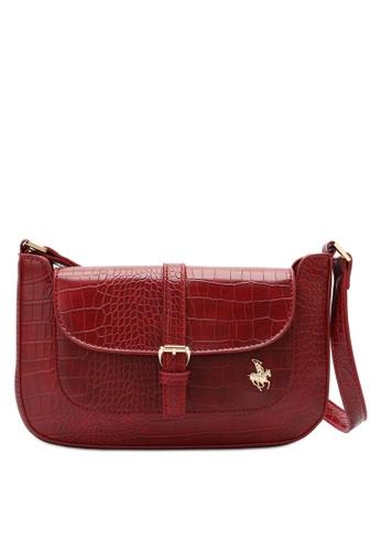 Swiss Polo red Croc Shoulder Bag 00BA2AC086DEF3GS_1