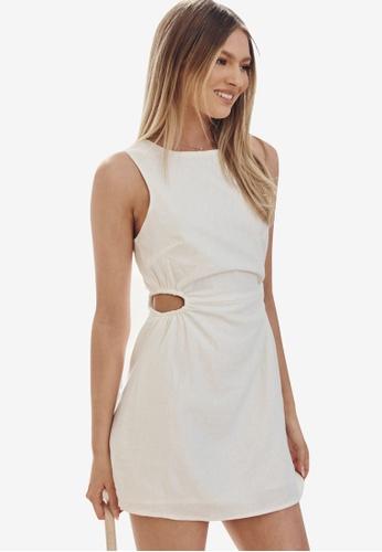 Supre white Mila Cutout Mini Dress C7458AA5846C26GS_1