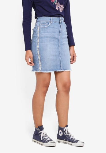 ESPRIT blue Denim Mini Skirt 6D6DBAA3A37E25GS_1