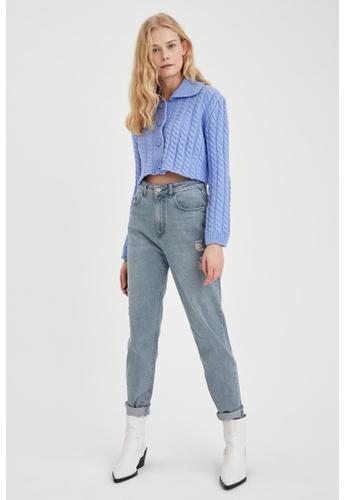 DeFacto grey High Waist Mom Jeans B697AAA65F5BC5GS_1