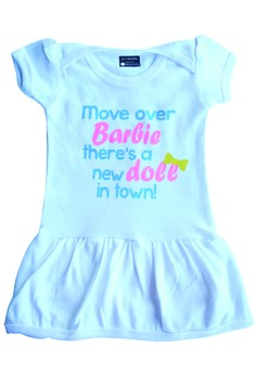 Move Over Barbie There's A New Doll In Town Skirty Onesie
