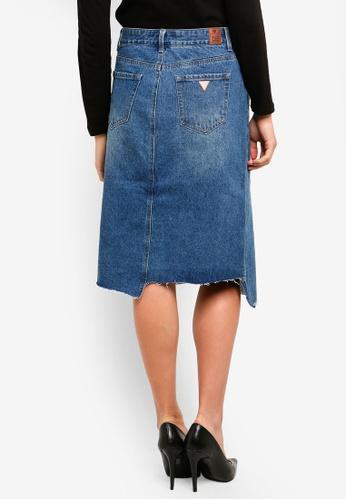 ee5407ba55 Buy Guess Asymmetric Hem Denim Skirt Online on ZALORA Singapore