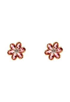 Tris Cubic Zircon Earrings