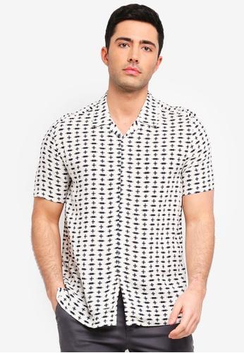 Topman white White Geometric Shirt 92E1AAACA58CF1GS_1