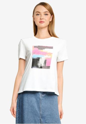 Vero Moda white Isla Short Sleeve Graphic T-Shirt 65C13AA462F111GS_1