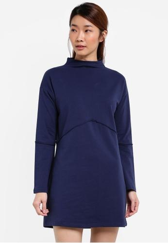 Something Borrowed navy Raw Edge Sweater Dress 43E70ZZ40B760FGS_1