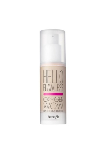 Benefit beige Hello Flawless! Oxygen Wow Liquid Foundation- Ivory Fair BE433BE0FLROSG_1