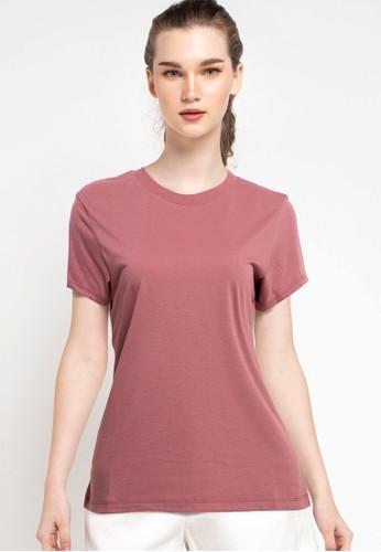 Tolliver red Round Neck Basic Short Sleeve Tee 60D2BAA60C8BCEGS_1