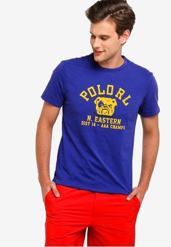 149cbb2b Polo Ralph Lauren blue Short Sleeve Crew Neck Slim T-Shirt  876CEAA332033EGS_1