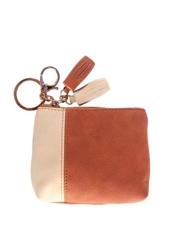 Treasure by B & D brown Women PU Zipper Small Coin Purse Wallet TR022AC0JQ2LPH_1