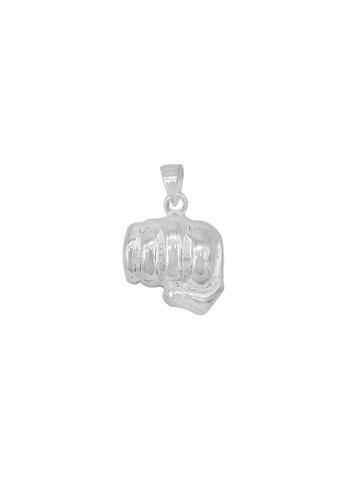 Silverworks silver Polished Hand Fist Charm 4ECB2AC3D5EB58GS_1