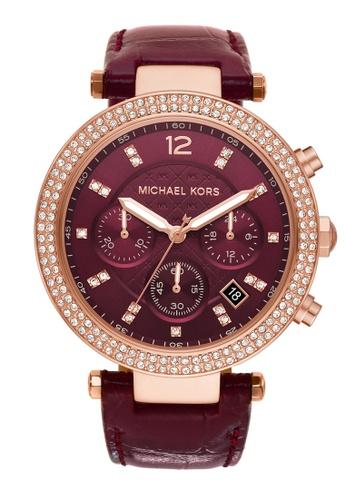 Michael Kors red Parker Watch MK6986 BF499AC92CB14DGS_1