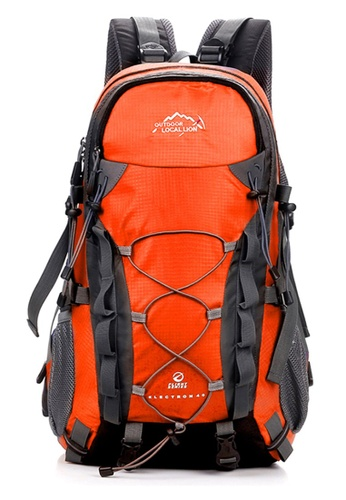 Local Lion orange Local Lion Water Resistant Camping Travelling Hiking Backpack 40L 127 (Orange) 1A706ACE0CD486GS_1